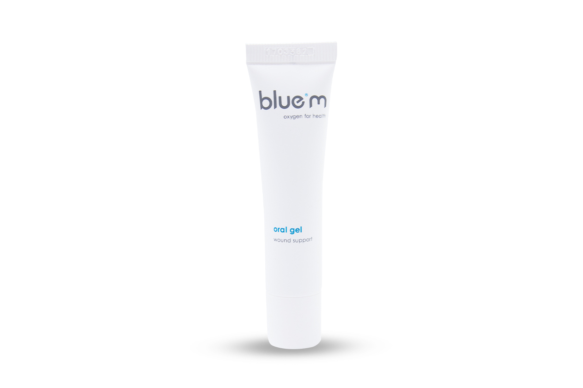 荷蘭 blue®m 抑制厭氧菌、提增口腔傷口癒合速度的活性氧口腔照護凝膠。